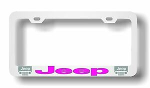 Jeep Pink License Plate Frame Custom Made Of Chrome Plated Metal