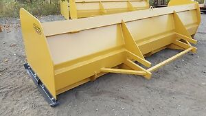 Snow Pusher Box Blade Plow Heavy Duty Loader 14 Ft Best Value Guaranteed