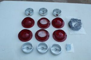 1963 Chevy Impala Complete Tail Light Lamp Backup Lens Trim Ornament Set