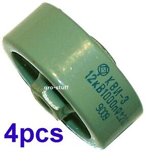 1000pf 12kv Doorknob Capacitors Lot Of 4pcs
