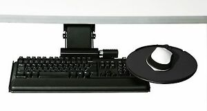 Humanscale 6g Series 900 Keyboard Tray Platform Clip Mouse Black 6g900 Ergonomic