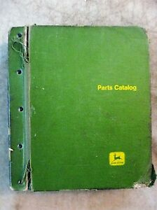 John Deere 6600 Combine Parts Catalog Manual Green Jd Binder