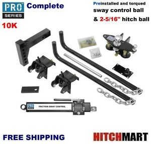 Pro Series 10k Round Bar Weight Distribution Package W Sway 2 5 16 Ball 49903
