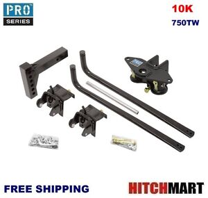 10k 750 Tw Round Bar Weight Distribution Trailer Hitch System 49582