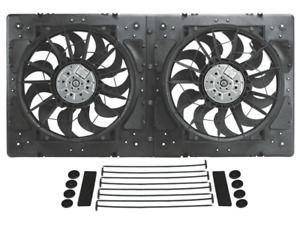 Derale 16934 High Output Dual 12 Electric Rad Fan plastic Shroud Kit