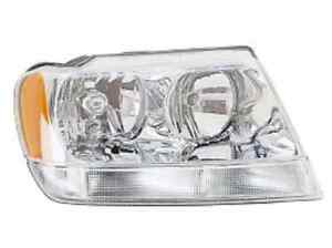 New Jeep Grand Cherokee 1999 2000 2001 2002 2003 2004 Right Passenger Headlight
