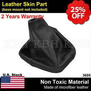 Leather Shift Boot Shifter Cover Fits For Hummer H3 Automatic 2005 2011 Black