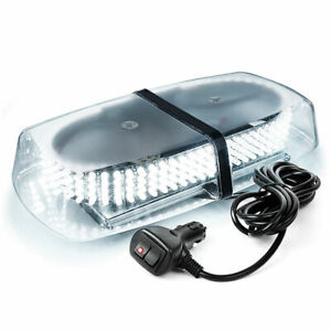 240 Led Mini Roof Top Emergency Safety Warning Flash Strobe Light White Amber