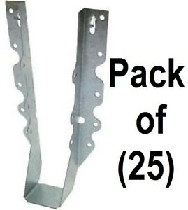 25 Pack Simpson Strong Tie Lu210 20 Gauge Steel 2 X 10 Face Mount Joist Hangers