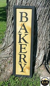 X Large Handmade Primitive Wooden Sign Bakery Kitchen Rustic Country Distressed