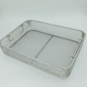 Stainless Steel Sterilization Tray Case Box 40cm Surgical Instrument Tool