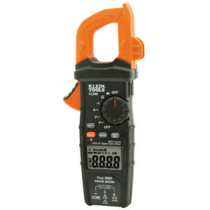 Klein Tools Cl600 Trms Digital Clamp Meter 600a Ac Auto Ranging Ac dc Voltage