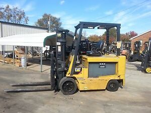 10 000lb Capacity Cat Electric Forklift Sideshifting Fork Positioner Nice