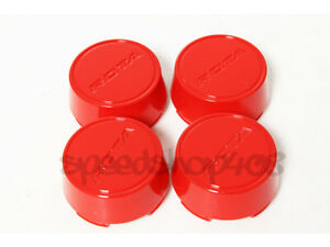Rota Wheels Center Caps Red Moda Cap 4pcs Replacement Torque Grid G force