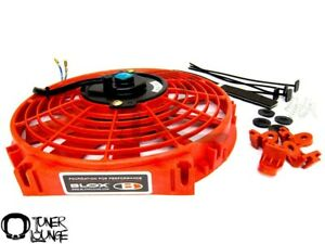 Blox Racing Red 10 Inch Slim Electric Fans Honda Acura Civic Integra Universal