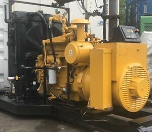 150 Kw Cat Caterpillar G3306ta Natural Gas Generator Set S n 07y06934