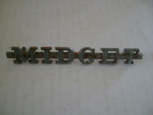 Mg Midget Genuine Metal Emblem Script Trim