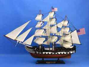 24 Wooden Uss Constitution Tall Model Ship High Quality Authentic Scale Boat