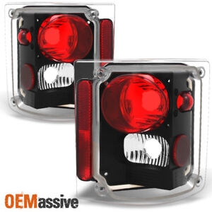 Fit 1978 1991 Gmc Jimmy Chevy 1500 Blazer Pickup Black Tail Lights Replacement