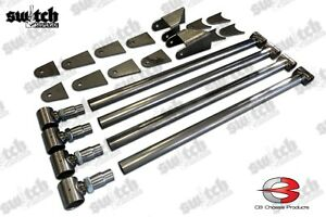 Universal Weld On Triangulated 4 Link Kit For Air Suspension Coil Over Hot Rod