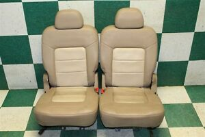 03 06 Expedition Tan Leather Driver Passenger Second Row Bench Seats Headrests