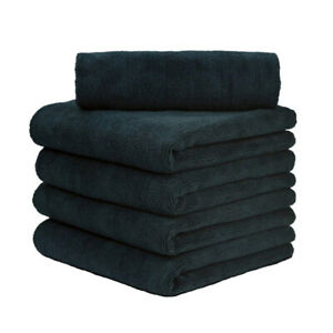 6 Pcs Microfiber Towel Edgeless Scratch Free Cleaning Clothes 16 X16 Black