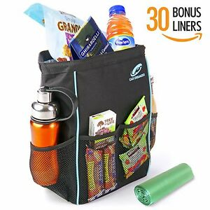 Car Trash Bag For Litter With 30 Free Liners 100 Satisfaction Guranteed