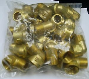 Brass Fittings Brass 90 Street Elbow Forged Pipe Size 3 4 Qty 25