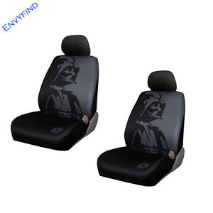 New Front Lowback Seat Covers Disney Star Wars Darth Vader Galactic Empire 2pc