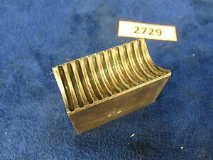 1905 Rivett 608 Lathe Lead Screw Nut Excellent Condition 2729