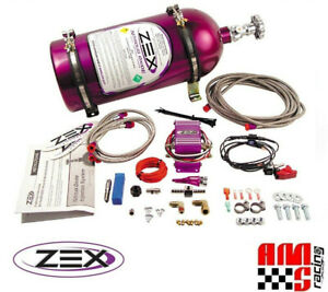 Zex 82023 V8 Efi Wet Nitrous System Kit 75 125 Hp Includes Bottle Nos N2o