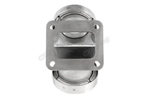 Cxracing 2 5 Vband Dual Inlet To Divided T4 Turbo Elbow Adapter Flange Clamps
