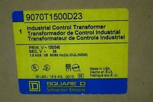 Square D Industrial Control Transformer 120 240v 1 5kva 1ph 9070t1500d23