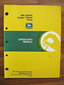 John Deere 680 Drawn Chisel Plow Operator s Manual