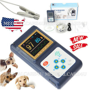 Portable Veterinary Pulse Oximeter Cms60d vet With Tongue Spo2 Probe pc Software