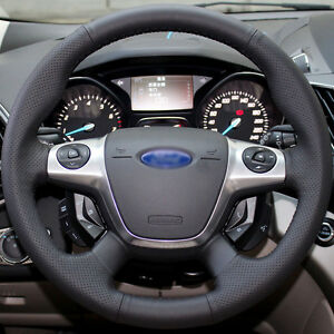 Leather Steering Wheel Cover For 2012 2014 2016 Ford Focus Sedan Escape Suv