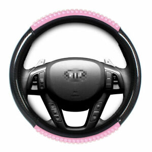Car Steering Wheel Cover 15 Black Pink Gel Comfort Grip For Sedan Universal
