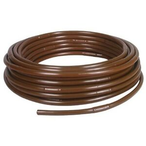 Rainbird Drip Irrigation 1 2 Emitter Tubing 18 Spacing 100 Roll Brown