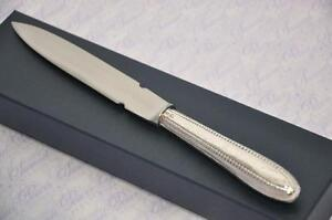 Boxed London Sterling Silver Handled Letter Opener Bead Pattern 1837