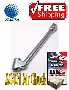 Dual Head Straight Tire Chuck 1 4 Inlet Air For Hose Tire Inflator Pressure 6