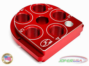 Dillon Precision XL 650 Style Billet Aluminum tool head  CNC Made Toolhead RED