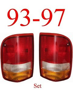 93 97 Ranger Tail Light Set Ford Complete Assembly 2wd 4wd Both Sides L r