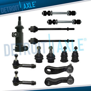 13pc Tie Rod Ball Joint Sway Bar Pitman Arm Kit For Chevy Gmc Sierra 1500 4x4