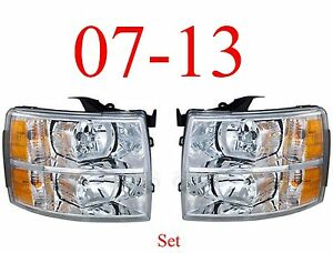07 13 Chevy Head Light Set Assembly Silverado Truck New In Box Both Sides