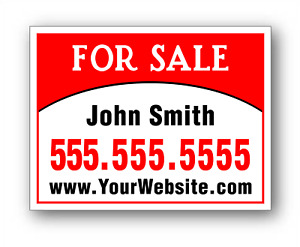 25 Signs 18 x24 Full Color Printed 2 Sided Plastic Real Estate Yard Signs