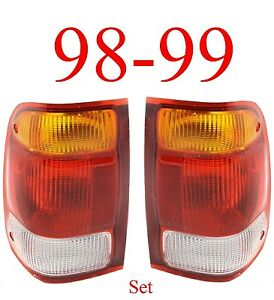 98 99 Ranger Tail Light Set Ford Complete Assembly 2wd 4wd Both L