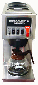 Bloomfield 9012 Automatic Carafe Coffee Brewer 2u 1l Warmers W Faucet
