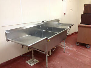 2 Compartment Stainless Commercial Sink 96 X 28