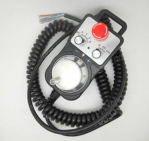 Universal Cnc 4 Axis Pendant Mpg Handwheel Emergency Stop Switch Controller Us