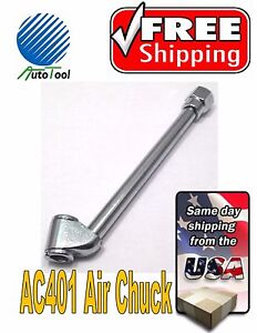 Dual Head Straight Tire Air Chuck 1 4 Inlet Air For Hose Tire Inflator 6